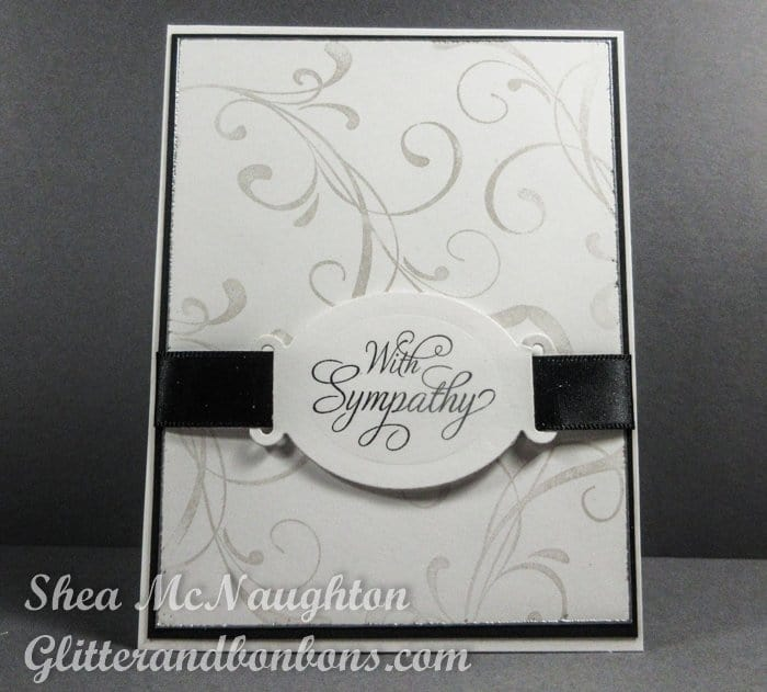 A quick and easy yet elegant sympathy card