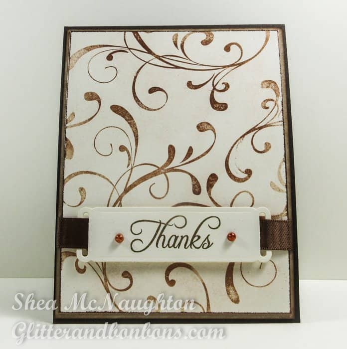 Front image of simple, elegant thank you card