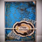 Masculine birthday card with rich color and manly embellishments
