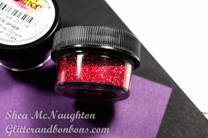 Closeup of special glitter by the Art Glitter company