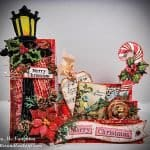 Side-step Christmas card loaded with handmade embellishments