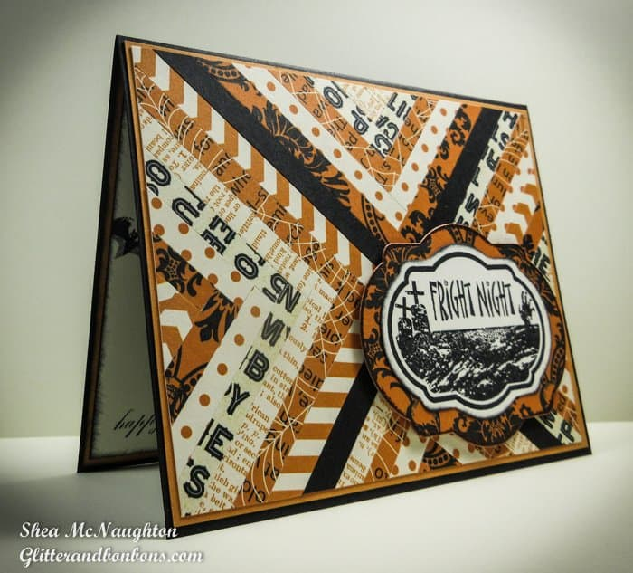 Angled image of Halloween Herringbone Card