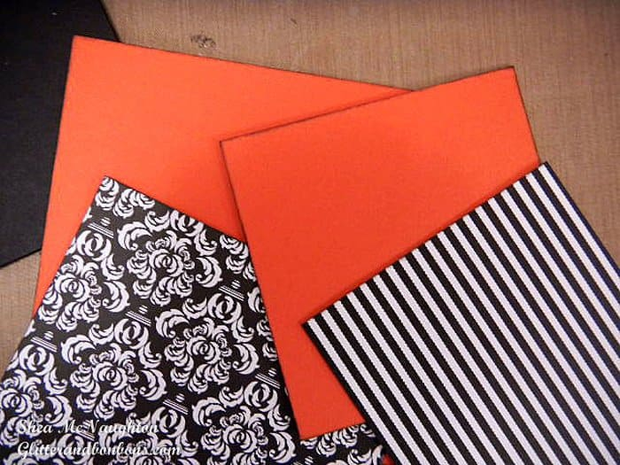 Patterned paper plus contrasting paper to be used as mat layers to give separation when mixing patterns