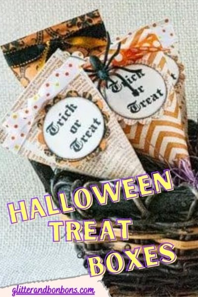 Pinterest button of Halloween sour cream treat containers