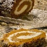 Sliced pumpkin roll