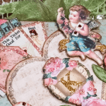 Fully decorated Vintage Valentine Pillow Box