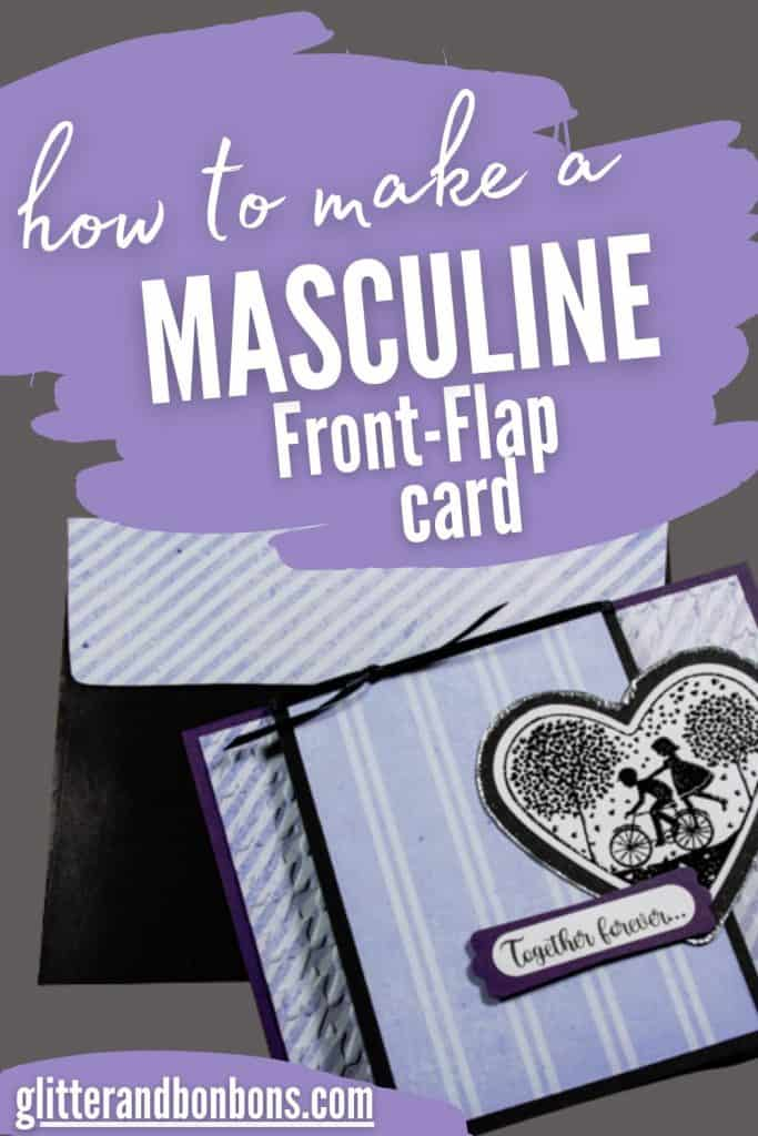 Pinterest image of Masculine Front-flap Card