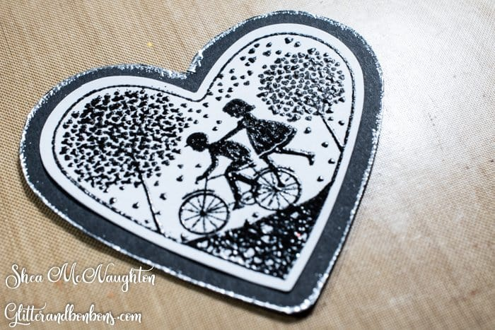 A cute image and some embossed texture for this masculine card
