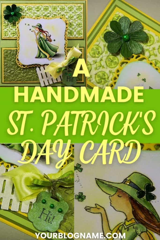 Various images of St. Patrick's Day card on Pinterest pin