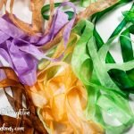 6 colors of hand-dyed seam binding ribbon