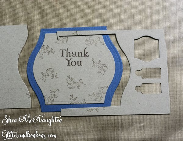Inside layers for masculine Z fold card