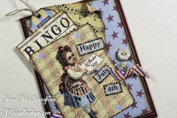 4th of July card showing vintage treatment