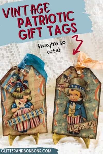 Pinterest cover vintage patriotic gift tags