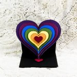 7-layer heart-shaped easel card