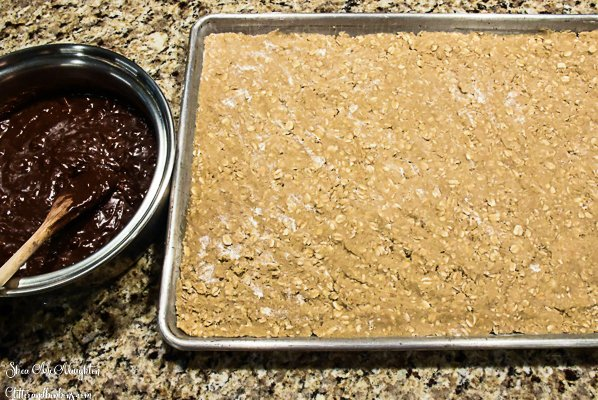 The oatmeal dough, ready for the next step